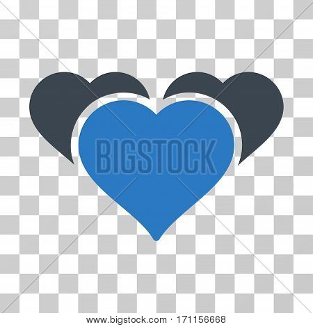 Favourite Hearts icon. Vector illustration style is flat iconic bicolor symbol smooth blue colors transparent background. Designed for web and software interfaces.