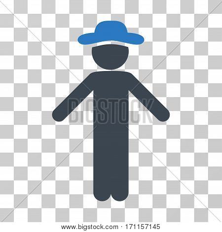 Gentleman Apology icon. Vector illustration style is flat iconic bicolor symbol smooth blue colors transparent background. Designed for web and software interfaces.