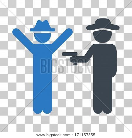 Gentleman Crime icon. Vector illustration style is flat iconic bicolor symbol smooth blue colors transparent background. Designed for web and software interfaces.