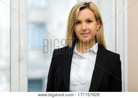 Young female manager