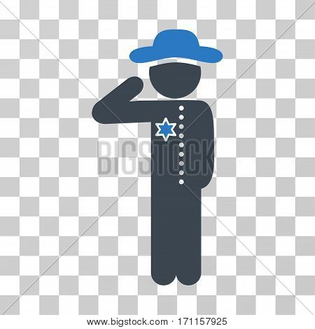 Gentleman Officer icon. Vector illustration style is flat iconic bicolor symbol smooth blue colors transparent background. Designed for web and software interfaces.