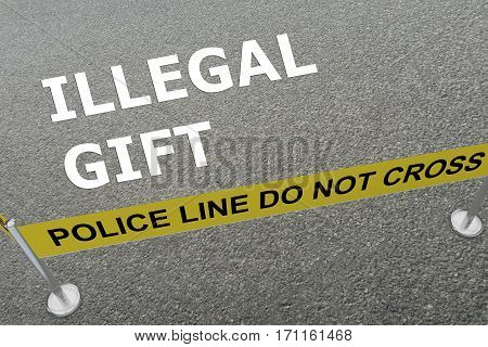 Illegal Gift Concept