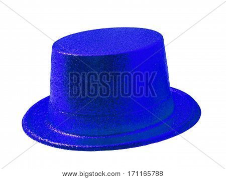 Blue party hat isolated on the white background clipping path.