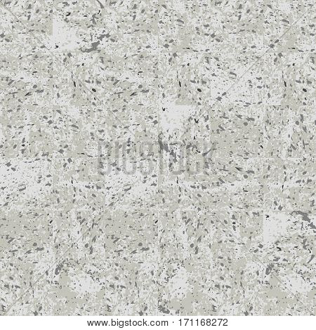 Concrete panels grey grunge texture, vector background