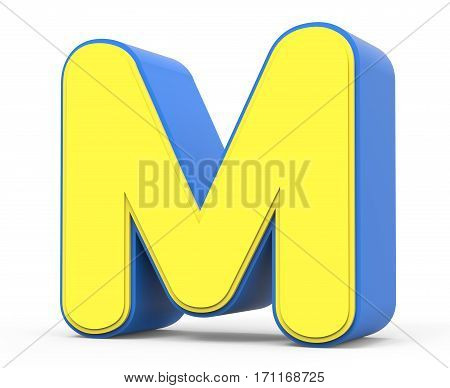 Cute Yellow Letter M