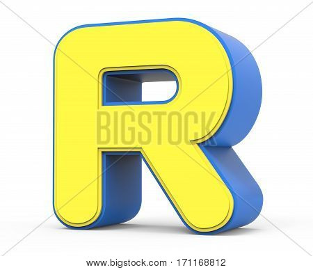 Cute Yellow Letter R