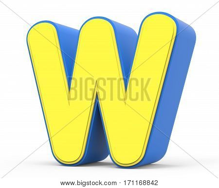 Cute Yellow Letter W