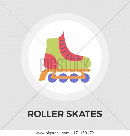 Roller skate icon vector. Flat icon isolated on the white background. Editable EPS file. Vector illustration.