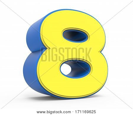 Cute Yellow Number 8