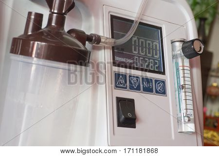 Oxygen concentrator bar gage measurement liter made my pure water