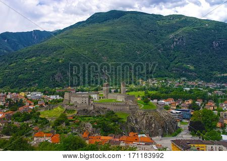 Aerial View Of Bellinzona, Switzerland
