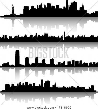 Horizontes de la ciudad de Nueva York