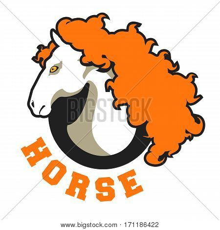 vector logos horse head sign stylized black and white