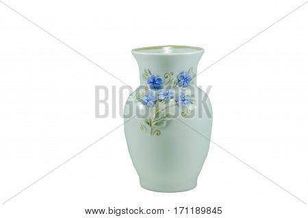 Isolated Small Porcelain Vase.