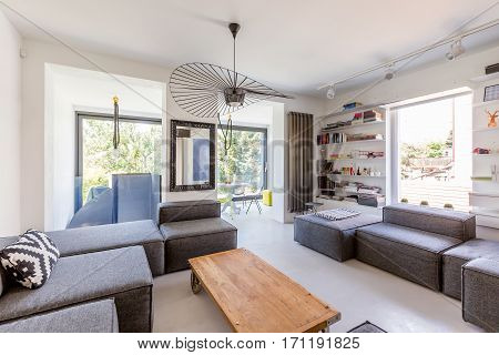 Comfortable Lounge Room With Sofas