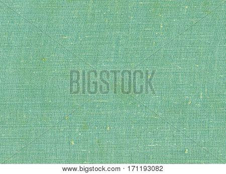 Green Color Textile Cloth Texture.