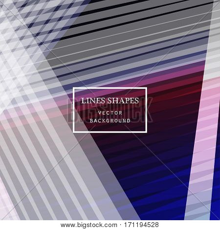 Modern Technology Striped Abstract Background Vector. Colorful S