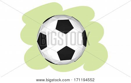 Soccer ball. Vector illustration eps 10 isolated on white background cartoon style.