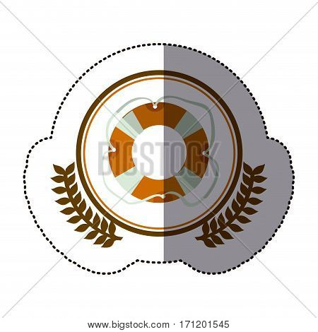 symbol life belt icon image, vector illustration design