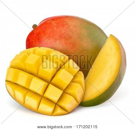 Mango fruit isolated on white background