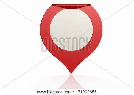 Red Pointer On Isolated White Background