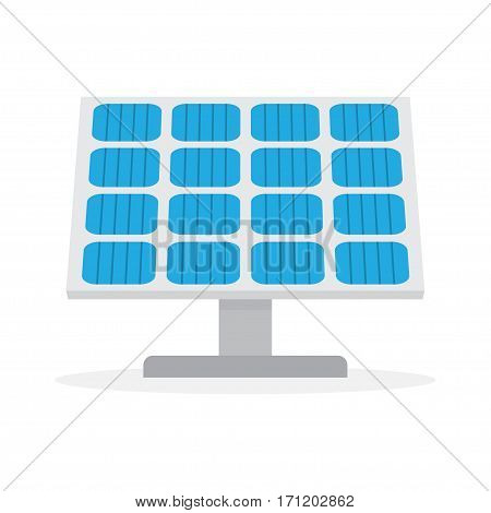 Solar Panel. Green power technology. Flat illustration isolated on white background, vector.