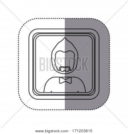 people man icon stock, vector illustration image