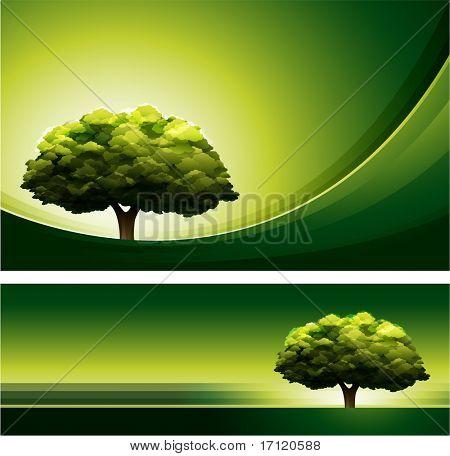 Grüner Baum-Design-Hintergrund