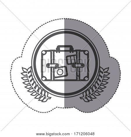 symbol suitcase icon image, vector illustration design