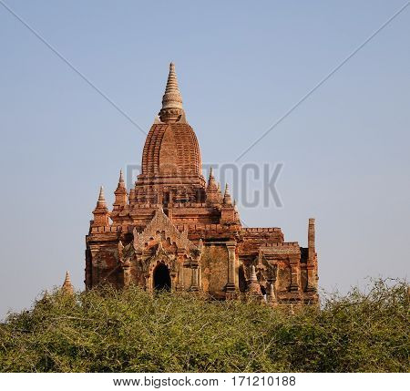 Ancient Buddhist Temple In Bagan, Myanmar
