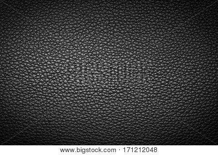 Black leather texture or leather background for design with copy space for text or image.