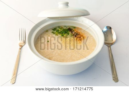 Rice Porridge, Rice Gruel Or Congee