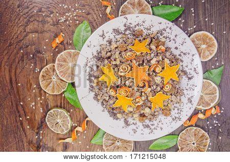 Kutya on Eve holiday. Wheat porridge which  on Eve Christmas.