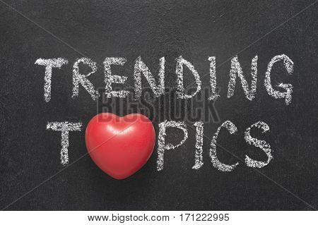 Trending Topics Heart