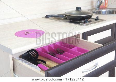 flatware in a table box