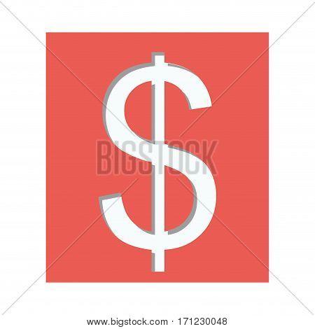 Dollar currency symbol icon image, vector illustration