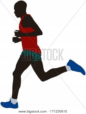 african kenyan man athlete runner running marathon