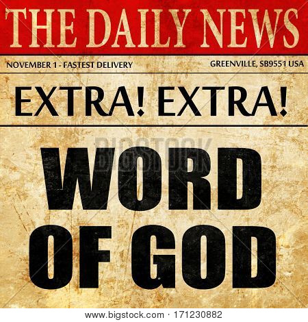 word of god, article text in newspaper