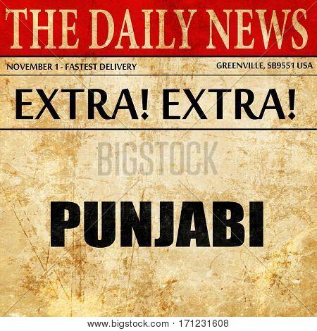 punjabi, article text in newspaper