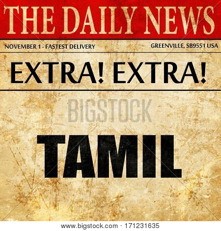 tamil, article text in newspaper
