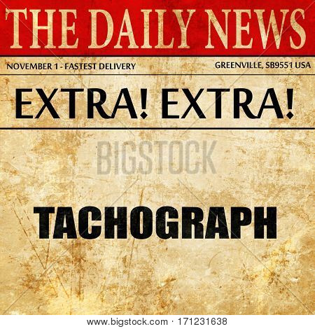 tachograph, article text in newspaper