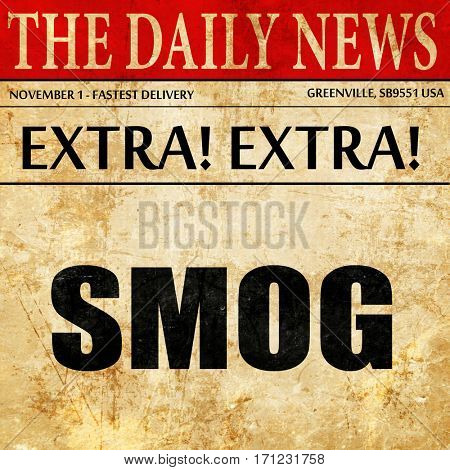smog, article text in newspaper