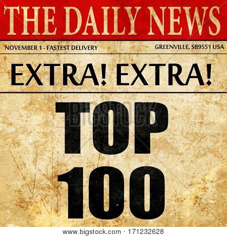 top 100, article text in newspaper