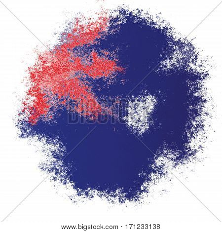 Color spray stylized flag of Australia on white background