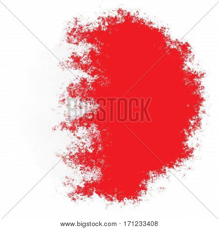 Color spray stylized flag of bahrain on white background