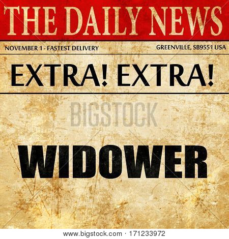 widower, article text in newspaper