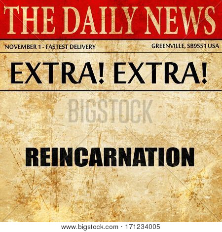 reincarnation, article text in newspaper