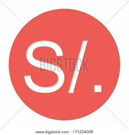 peruvian currency symbol icon image, vector illustration