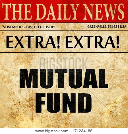 mutual fund, article text in newspaper