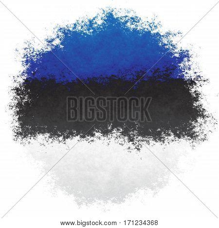 Color spray stylized flag of Estonia on white background